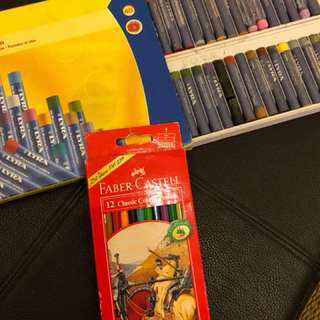 Faber Castell Colour Pencils and crayons