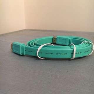 HDMI線(薄荷綠色)
