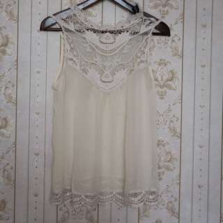 Transparant white top lace