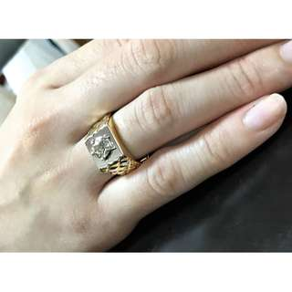 Diamond 0.70 carat GIA Graded on 18k Gold Ring