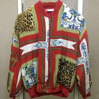 🚚 降👫👬👭情侶親子*早期 復古 古著 天使 豹紋 花卉 襯衫 宮廷 巴洛克 秋冬 外套