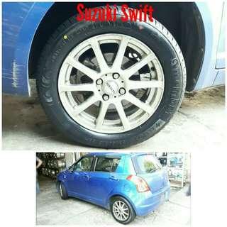 Tyre 185/60 R15 Membat on Suzuki Swift 🐓 Super Offer 🙋♂️