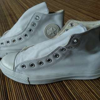 Converse chuck taylor all star full leather white size 41 1/2