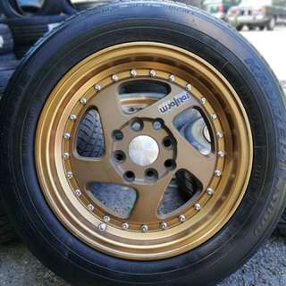 Rotiform 14 inch sports rim bezza tyre 95%