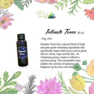 Intimate whitening toner