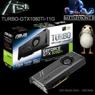 ASUS GTX 1080 TI 11GB Turbo Edition VR Ready 5K HD Gaming GeForce®...