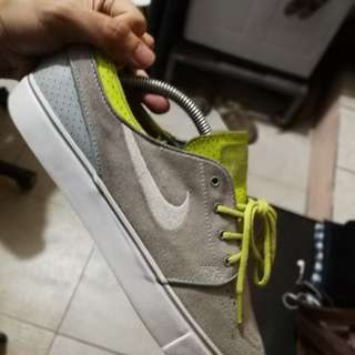 Nike janoski green gray