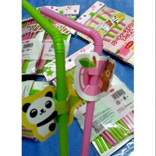 Party Straw with Paper Design