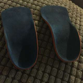 Size 24 Orthotic innersole supports to steady ankle of 2 year old child