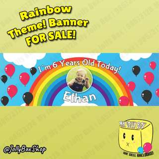 Rainbow Theme PVC Birthday Banner For Sale | For Boys and Girls | 20 x 60 Inch | Jolly Box 98573128