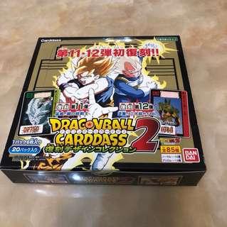龍珠復刻11+12代閃卡 原盒 未開封日版