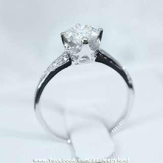實物拍攝 超閃一卡十心十箭高炭鑽925純銀6層包金戒指,臂鑲有碎石紐紋,可訂造任何圈碼