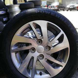 14 inch sports rim myvi ikon showroom condition tyre 99.99%