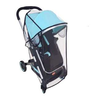 🌈(Ready Stock)💯🆕Brand New High Quality Super Soft Clear Rain Cover for baby stroller/pram