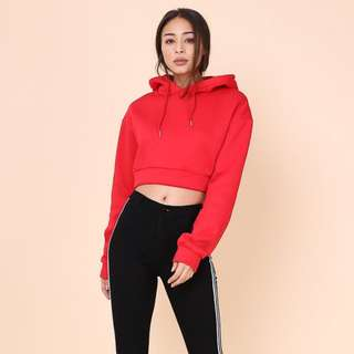 BNWT Supergurl Casey Cropped Hoodie Sweater (RED)