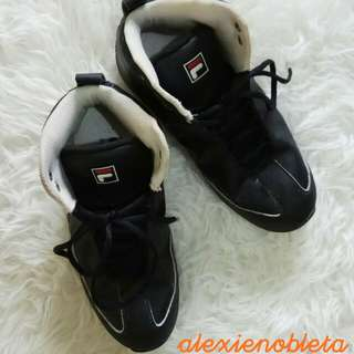 Black FILA Basketball Shoes