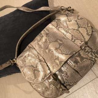 RL snake skin hand bag