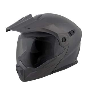 ScorpionEXO Anthracite SIZE XX-Large XXL ONLY Adult Modular Flip Up Adventure Touring Motorcycle Helmet EXO-AT950 Solid