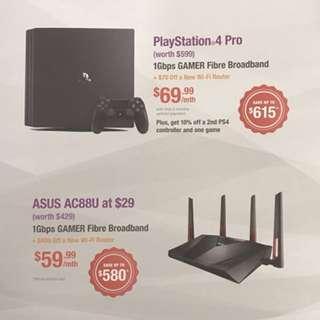 PS4 Pro with MyRepublic