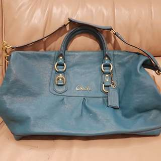Coach Bag - Bluish Green Top Handle with sling