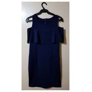 Xara Casual Blue Dress