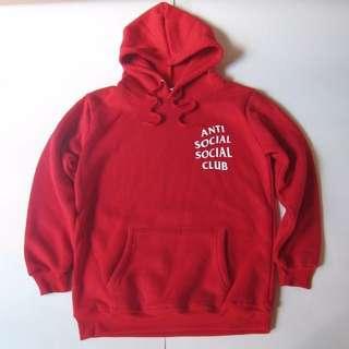 Anti social social club red hoodie 衛衣 size s