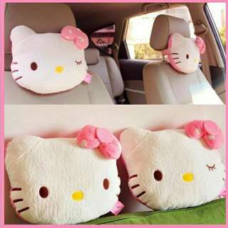 1 pair Hello Kitty car cushion pillows