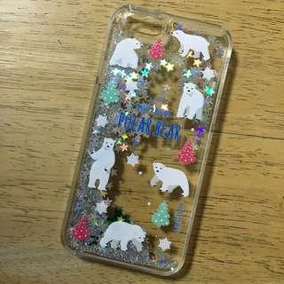 6S北極熊流沙手機殼