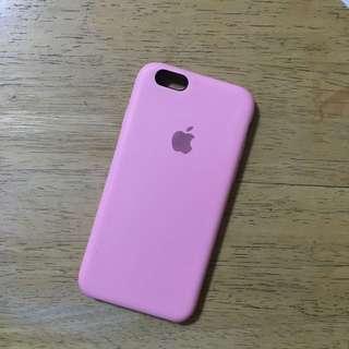 6S粉紅矽膠手機套