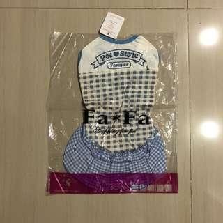 blue checkered dog dress