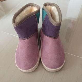 女幼童毛毛短靴