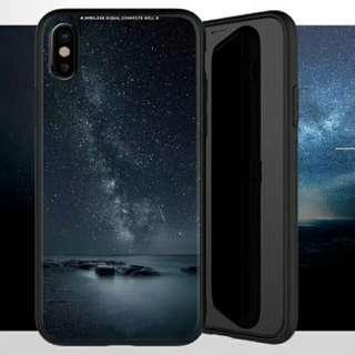星河 玻璃 Galaxy iPhone X電話殼 Apple蘋果