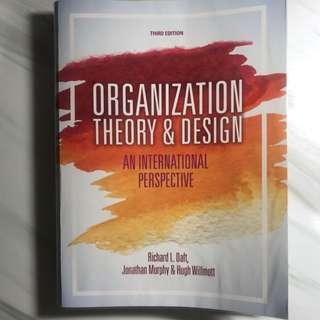 MNO3303 Organization Theory & Design - An International Perspective (3rd Edition), Richard L. Daft