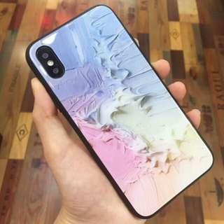 潑墨 玻璃 iPhone X電話殼