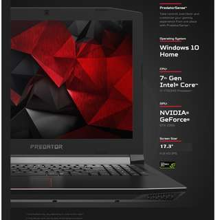 Predator Helios 300 Gaming Laptop with 17.3 Inch FHD IPS.
