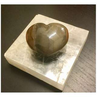 Crystal Desert Jasper Heart shaped * one piece only