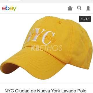 🚚 NYC cap SnapBack  黃 yellow
