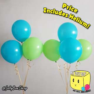 2 sets of balloons combination with Helium | Green and Tiffany Green Combi | Perfect for Birthday Party, Weddings, Proposals, Corporate Events