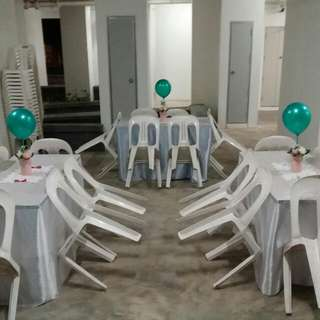 Mini Event Renting Chair @ Table & Skirting