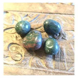 Bloodstone crystals 2pcs estimated 20gm