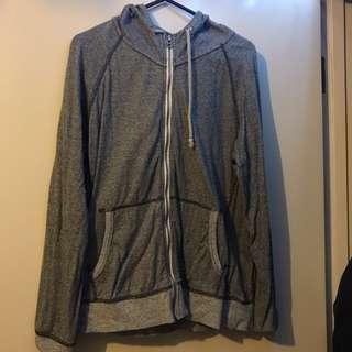 Grey jacket with hoodie
