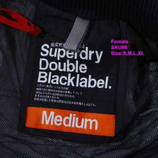 Superdry Double Blacklabel  #8 Size:S,M,L,XL