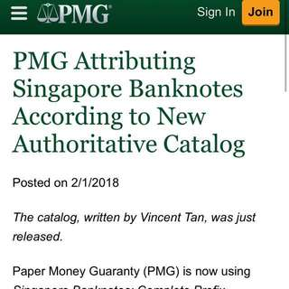 PMG News - Singapore 🇸🇬 Banknotes Complete Prefix Reference