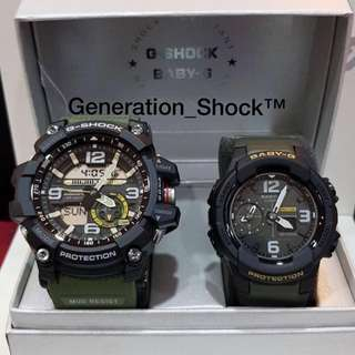 COUPLE💝SET in MUDMASTER : 1-YEAR OFFICIAL WARRANTY : 100% Originally Authentic BABY-G-SHOCK RESISTANT in ABSOLUTELY TOUGHNESS In Military Rainforest Colour Stealth Matt BEST GIFT Most Rough Users: BABYG BGA-230-5ADR / GSHOCK GG-1000-1A3DR / GG1000