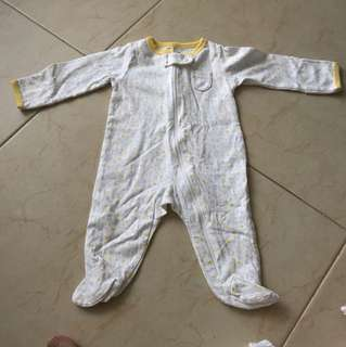 Carter's New Born One-piece suit Yellow White Duck