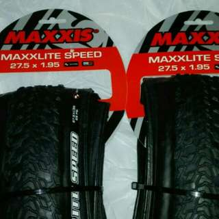 100% NEW MAXXIS MAXXLITE SPEED 27.5x1.95 ULTRALIGHT TIRES 超輕外呔