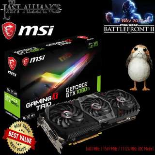"MSI GTX 1080 Ti GAMING X TRIO.   "" Best Buy Valve GPU of 2018 "" Your Last Alliance.."