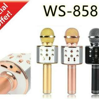 Mic karaoke bluethooth wirelles portable ws858