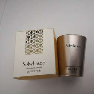 Sulwhasoo First peace candle 🕯
