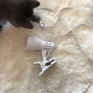 IKEA White lamp with a clip